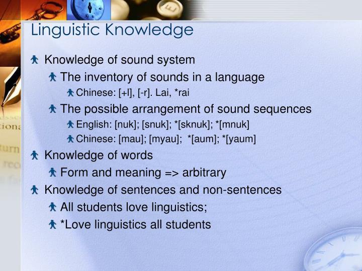 Linguistic Knowledge