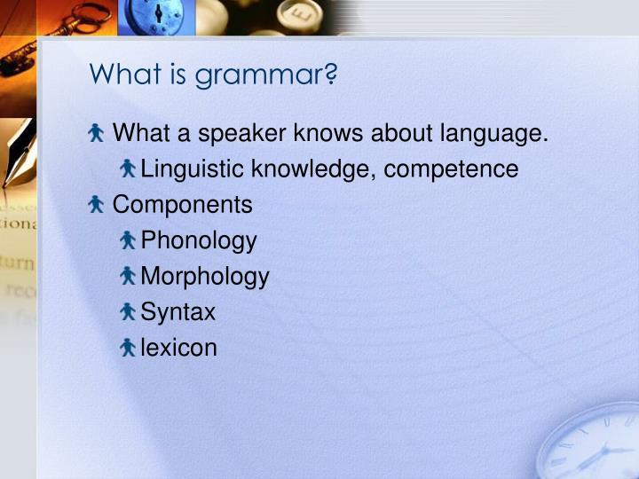 What is grammar?