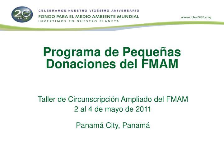 Programa de Pequeñas Donaciones del FMAM
