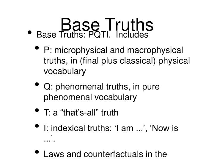 Base Truths