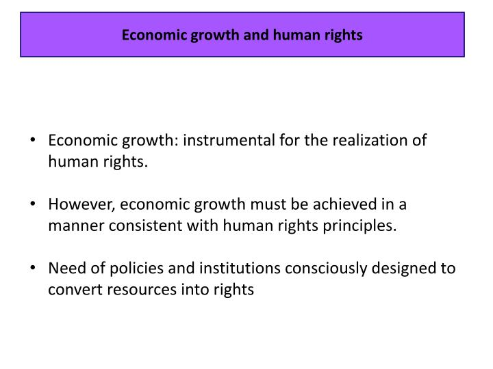 Economic growth and human rights