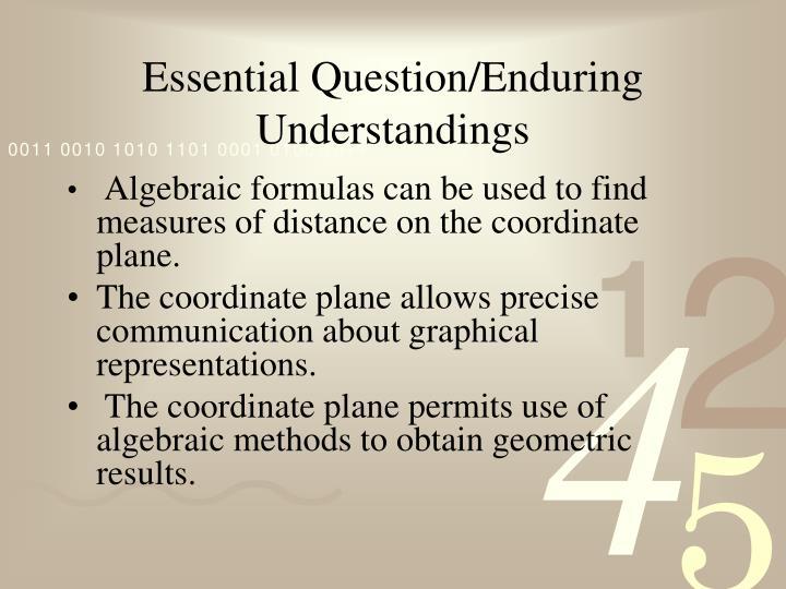 Essential Question/Enduring Understandings
