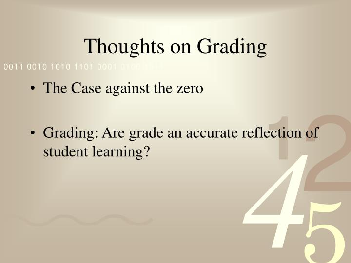 Thoughts on Grading