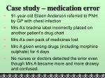 case study medication error