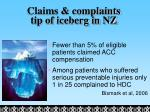 claims complaints tip of iceberg in nz