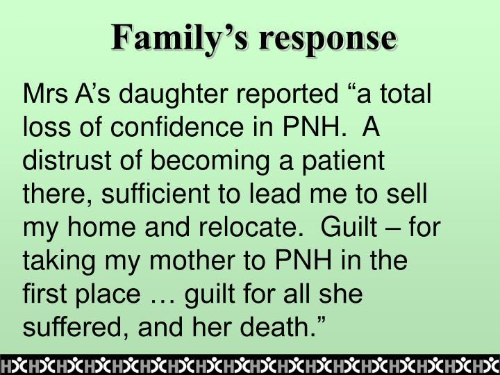 Family's response
