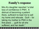 family s response