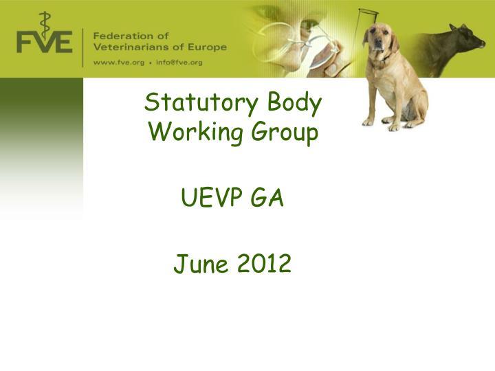 Statutory Body  Working Group