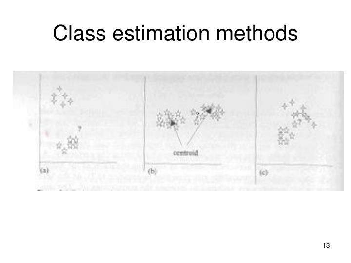Class estimation methods