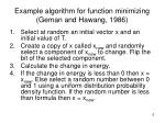 example algorithm for function minimizing geman and hawang 1986