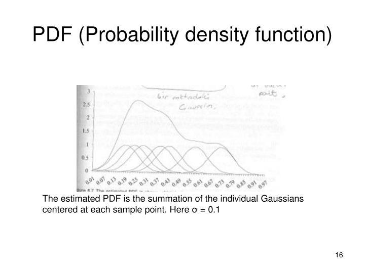 PDF (Probability density function)