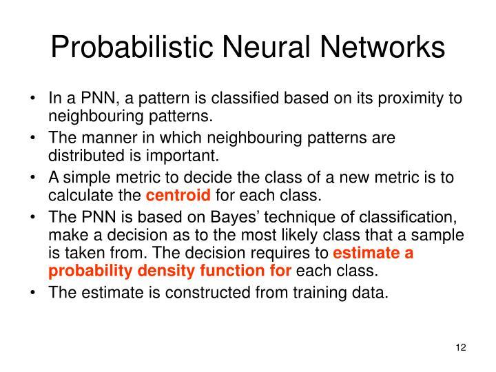 Probabilistic Neural Networks