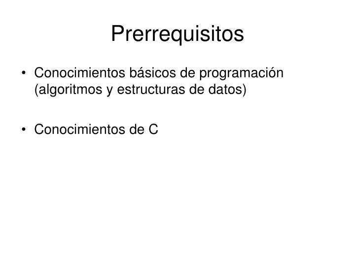 Prerrequisitos