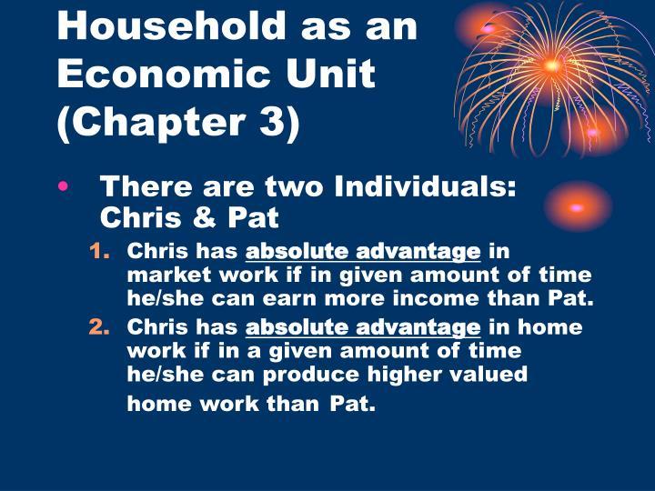 Household as an Economic Unit