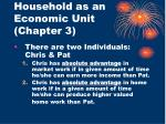 household as an economic unit chapter 3