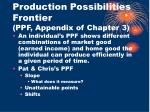 production possibilities frontier ppf appendix of chapter 3
