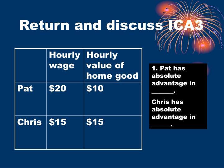 Return and discuss ICA3