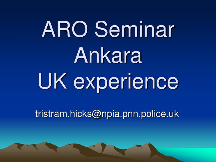 ARO Seminar