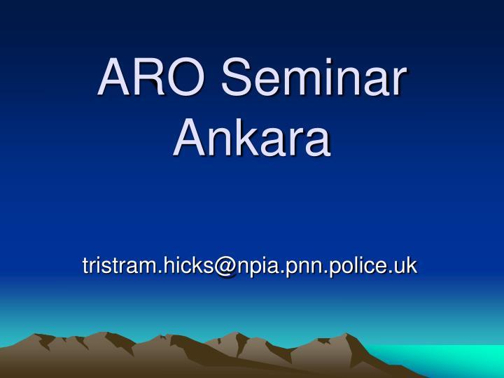 ARO Seminar Ankara