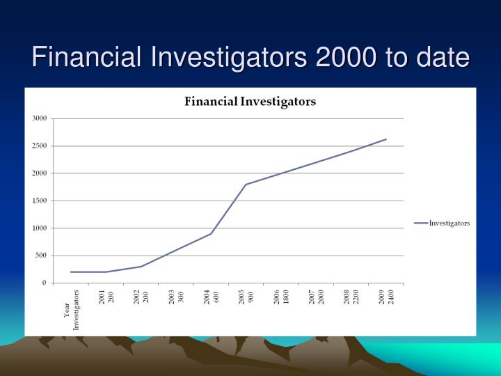 Financial Investigators 2000 to date