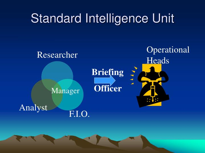 Standard Intelligence Unit