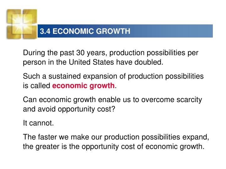 3.4 ECONOMIC GROWTH
