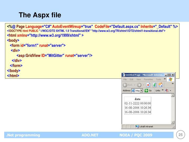 The Aspx file