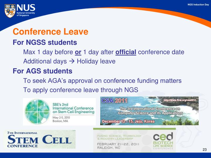 Conference Leave