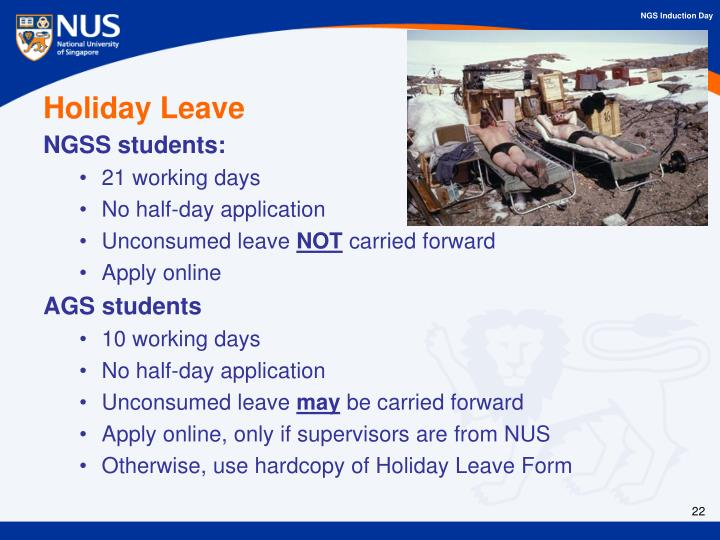 Holiday Leave