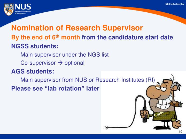 Nomination of Research Supervisor
