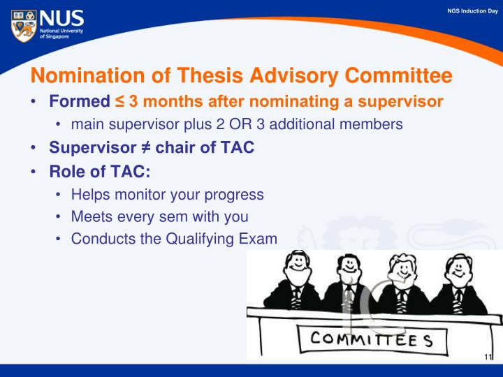 Nomination of Thesis Advisory Committee