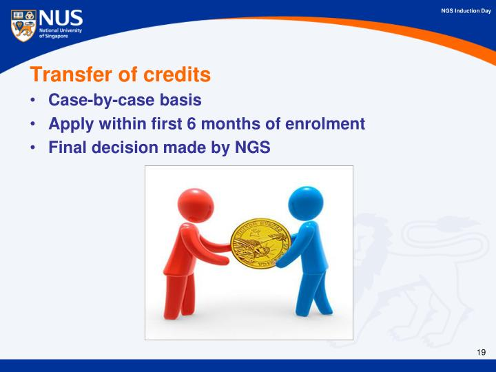 Transfer of credits