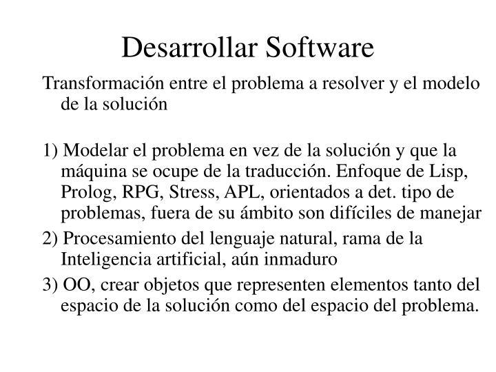 Desarrollar Software