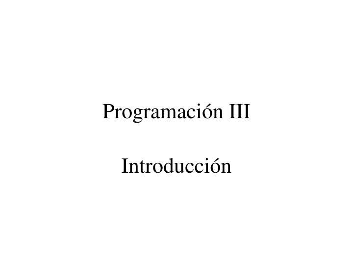 Programación III