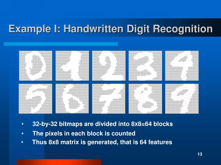 Example I: Handwritten Digit Recognition