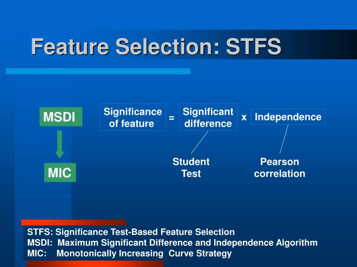 Feature Selection: STFS