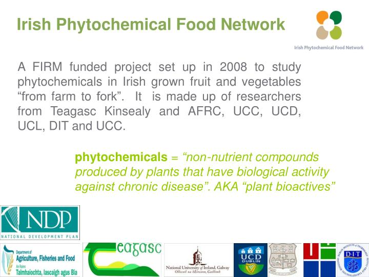 Irish phytochemical food network