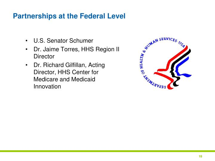 Partnerships at the Federal Level