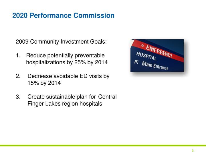 2020 Performance Commission