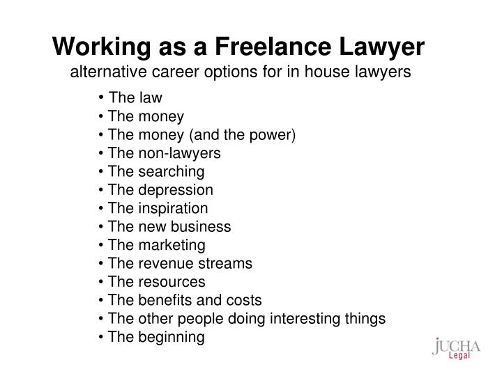 Working as a Freelance Lawyer