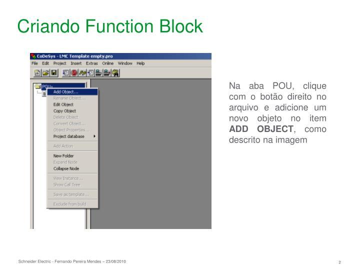Criando Function Block
