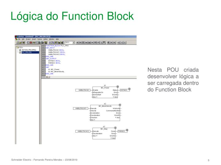 Lógica do Function Block