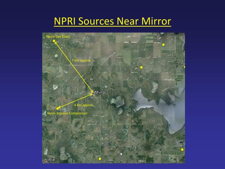 NPRI Sources Near Mirror