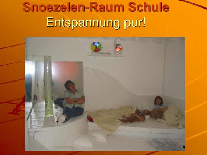 Snoezelen-Raum Schule