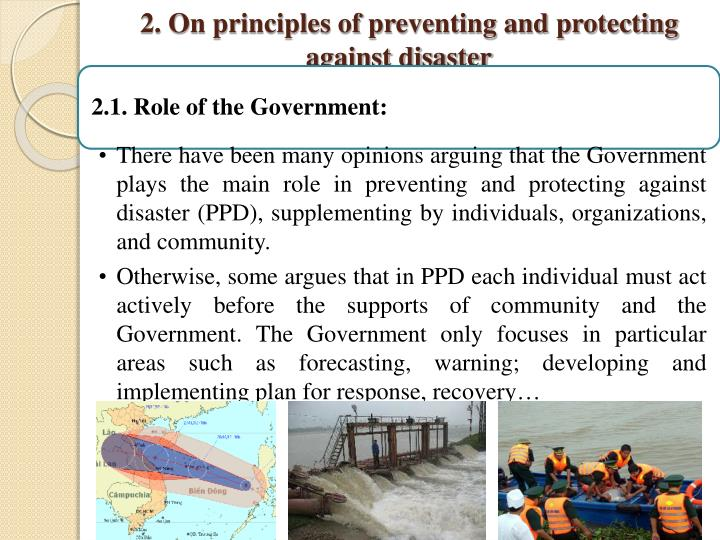 2. On principles of preventing and protecting against disaster