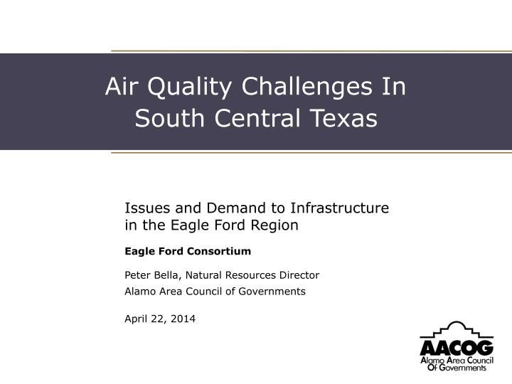 Air Quality Challenges In