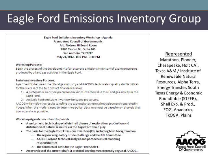 Eagle Ford Emissions Inventory Group