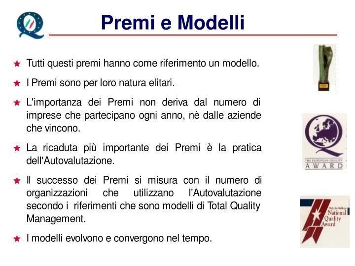 Premi e Modelli