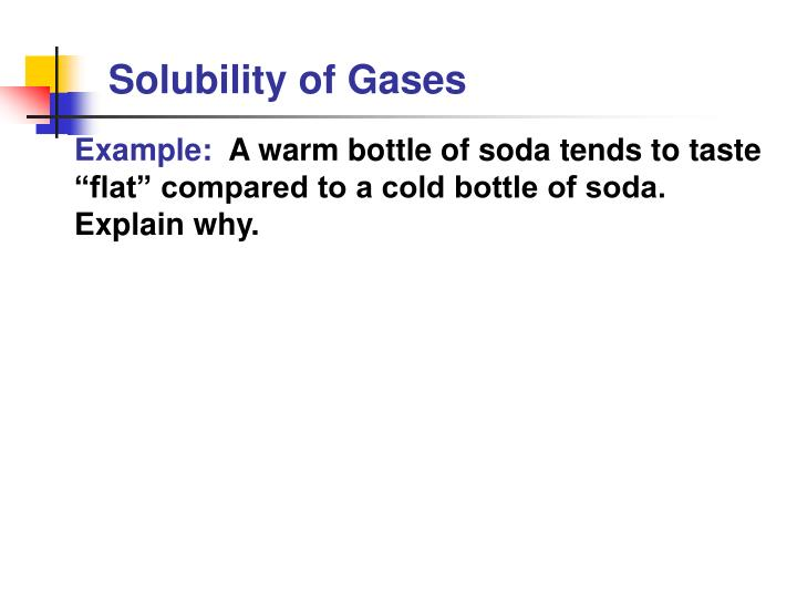 Solubility of Gases