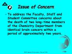 issue of concern